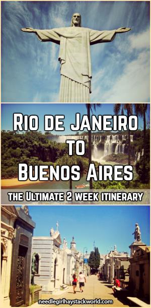 Rio de Janeiro to Buenos Aires itinerary