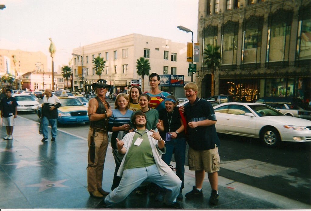 The first trip to LA -- 2001