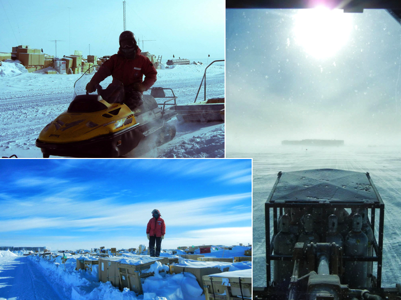 working in antarctica at the south pole