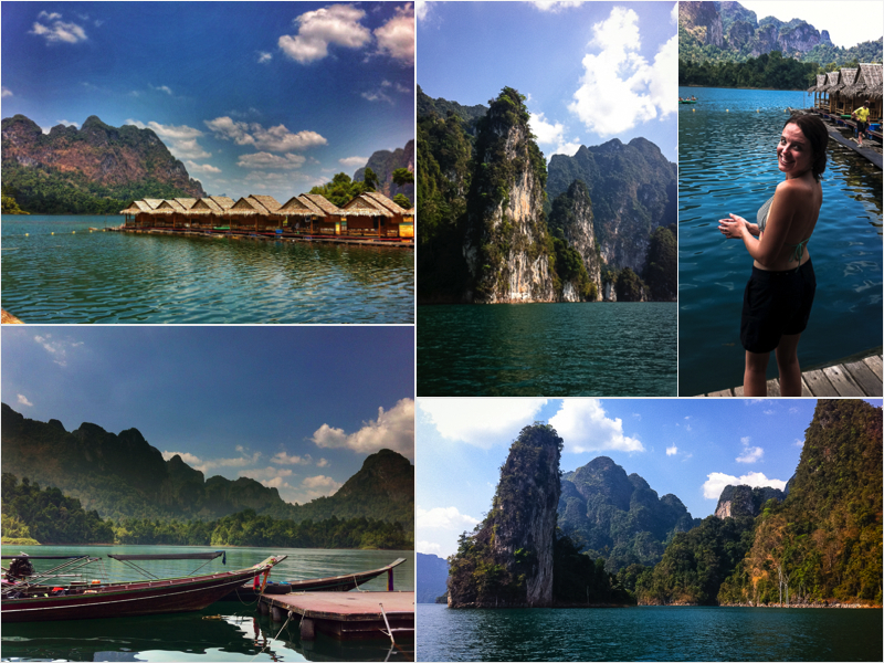 Cheow Lan Lake iPhone Collage