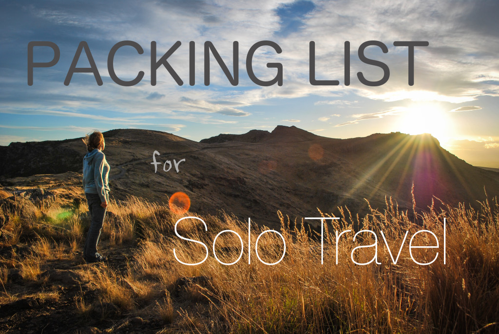packing list and travel resources for solo travel