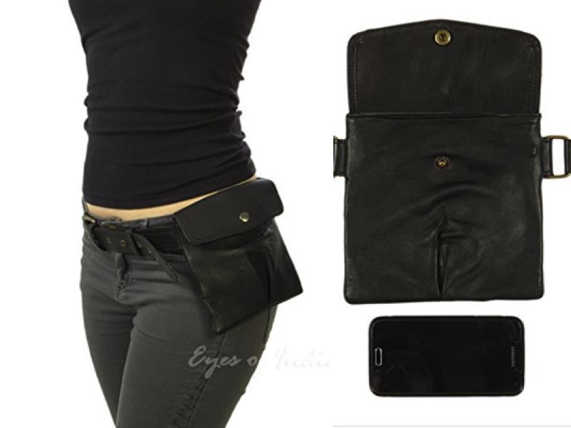 leather belt bag film set