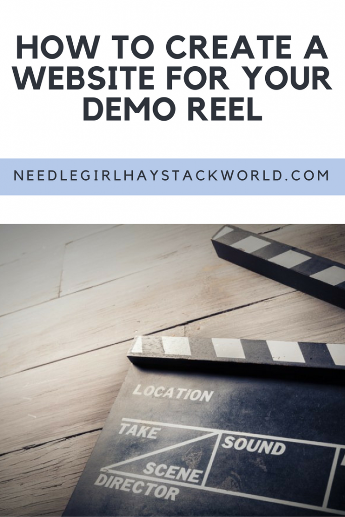 how to create a website for demo reel